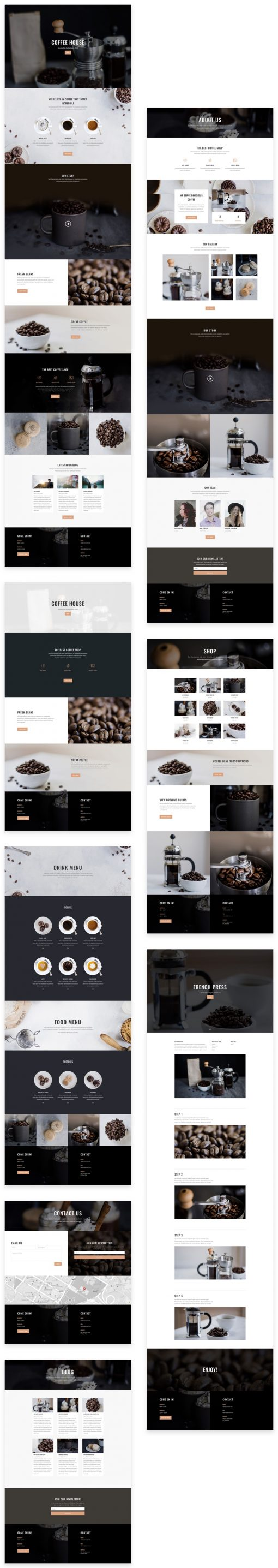 Lanarkshire Website Design Coffee Shop and Cafe package