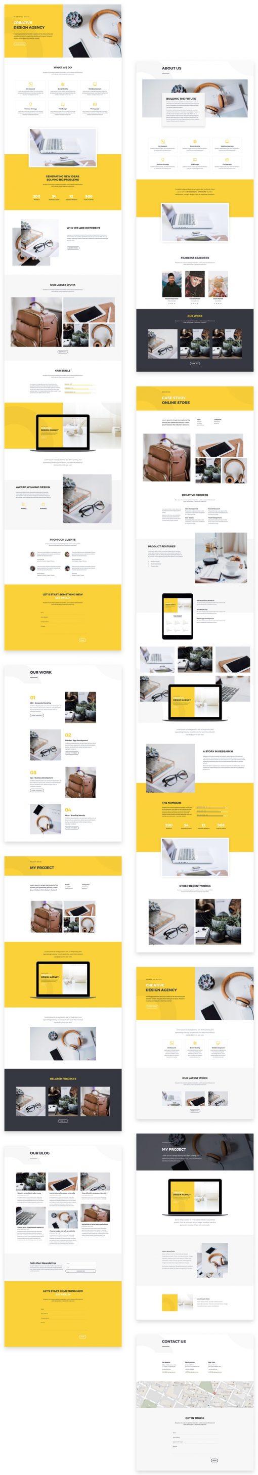 Lanarkshire Website Design-pre-designed graphic designer and advertising agency layout