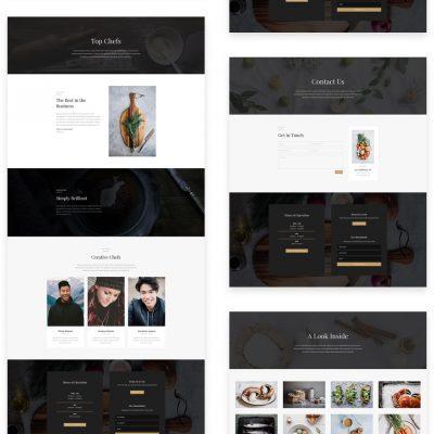 Lanarkshire Website Design-pre-designed restaurant fast food and cafe layout